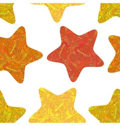 Seamless texture with stars in Tribal style vector image vector image