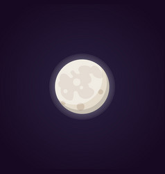 full moon isolated in cartoon vector image