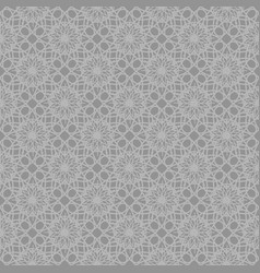 gray abstract ornamental repeating pattern vector image