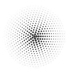 halftone dotted vintage retro round gradients vector image vector image