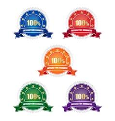 Satisfaction guarantee badges vector image