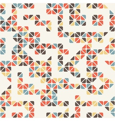 Seamless abstract pattern of colored triangle vector image