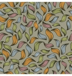 Abstract seamless pattern with autumn leaves vector image