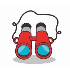 binoculars device isolated ico n vector image vector image