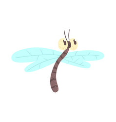 cute cartoon funny dragonfly character vector image vector image