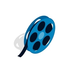 Film reel icon in isometric 3d style vector image vector image