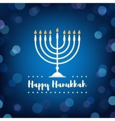 Hanukkah Candles on Bokeh Background vector image