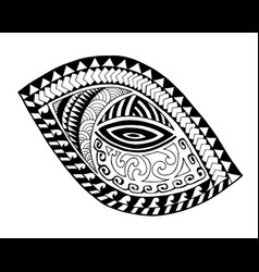 maori style tattoo design vector image