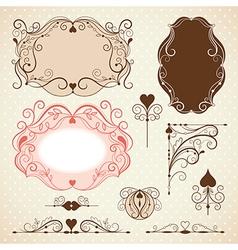 Set of elegance frames vector image vector image