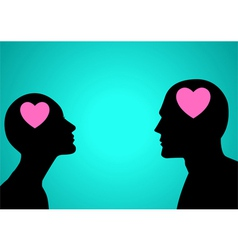 Think Love vector image vector image