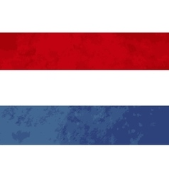 True proportions Netherlands flag with texture vector image