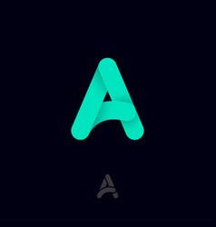 a monogram letter logo green letter vector image
