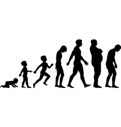 Ages of man vector image