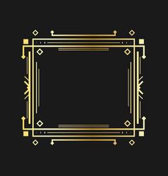 Art deco line border vector