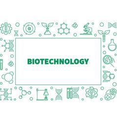 Biotechnolgy outline horizontal frame vector