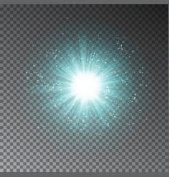 blue explode effect glowing transparent light gli vector image