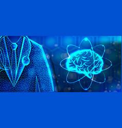 Brain doctor specialist human anatomy abstract vector