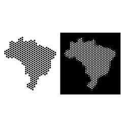 brazil map hexagon abstraction vector image