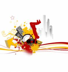 break dance background vector image vector image