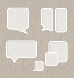Bubble for speech set Wooden style vector