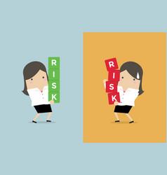 Businesswoman risk management vector