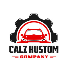 Car gear repair logo design vector