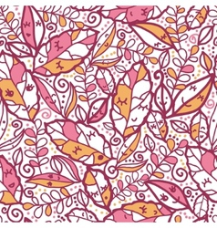 Cartoon Autumn Leaves Seamless Pattern background vector