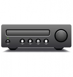 Cd and dvd player vector