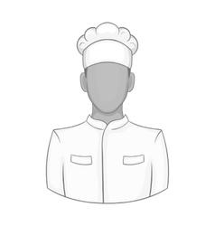 Chef icon black monochrome style vector image