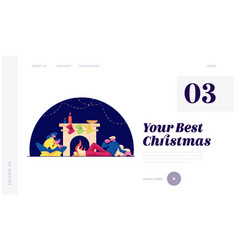 christmas holidays spare time at home website vector image