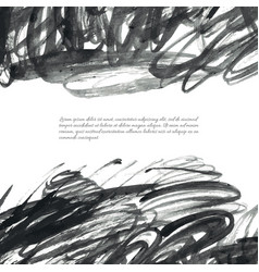 dark gray ink watercolor doodles vector image
