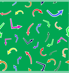 dirrerent colorful arrows seamless pattern vector image