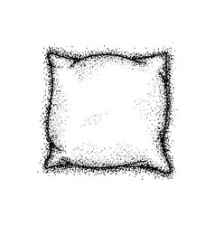 Dotwork bed pillow vector