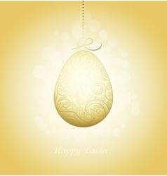 Easter Golden Egg vector