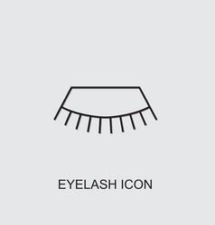 Eyelash icon vector