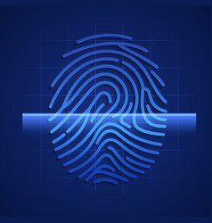 fingerprint scanning element hud technology vector image