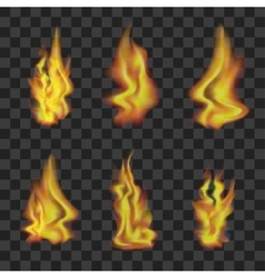 Fire Set on Transparent Background vector