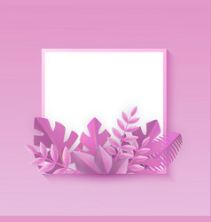flat abstract purple leaves pattern background vector image