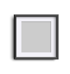 frame blank isolated on white realistic square vector image