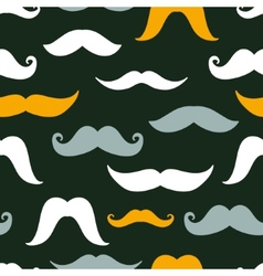 Fun silhouette mustaches seamless pattern vector