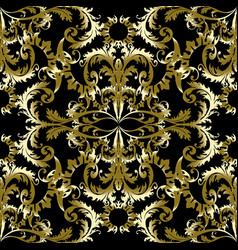 gold baroque seamless pattern vector image