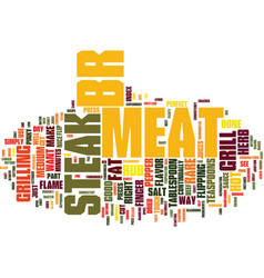 grill your steak the right way text background vector image