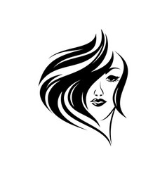 hair women vector image