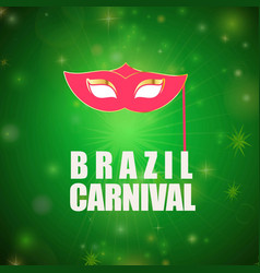 Happy brazilian carnival day pink carnival mask vector