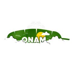 happy onam festival south india-kerala vector image