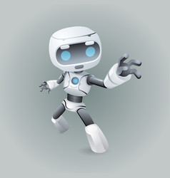 Heroic pose robot technology science fiction vector