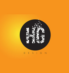 hg h g logo made of small letters with black vector image