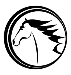 Horse tattoo character in a circle vector