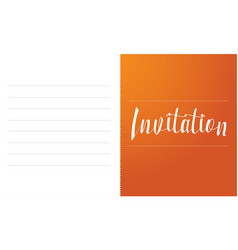 invitation card simple style collection vector image