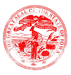 Iowa seal stamp vector